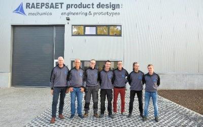 Raepsaet Product Design verhuist naar nieuwe locatie